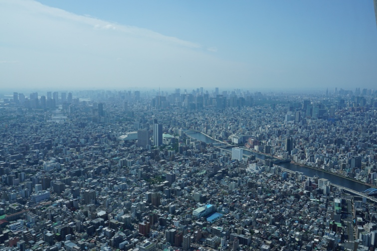 The view of Tokyo from the Skytree