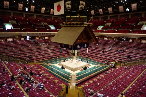 The interior of the sumo arena
