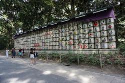 Ceremonial sake barrels