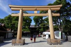 Entrance to the main area of the Meiji Shrine