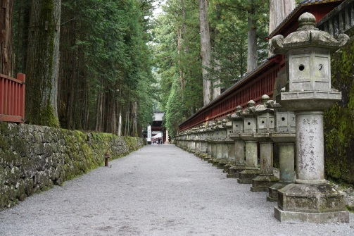 The path linking Toshogu Shrine with Futarasan Shrine