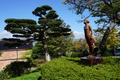 A statue in a Motomachi park