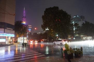 Heavy rain in Sapporo