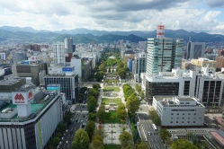 View of Odori Park from up in the TV tower