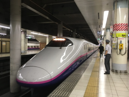 Catching the shinkansen at Ueno Station