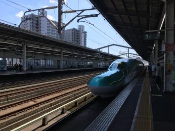 Boarding the shinkansen at Utsunomiya