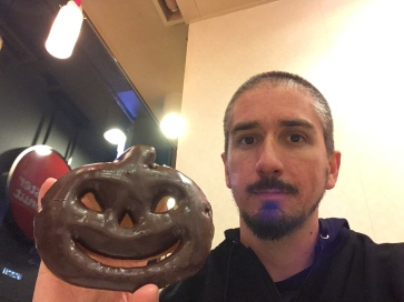 Me and the jack-o-lantern donut