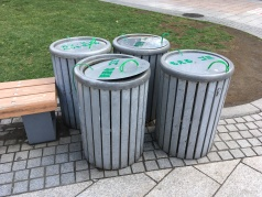 Public trash bins - a rarity in Japan