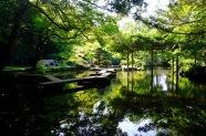 The pond at Oyama Jinja Shrine