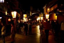 Geisha District at night