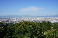 The view of Kyoto from where I stopped