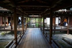 Inside the Goten at Ninnanji Temple