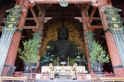The giant Buddha inside Todaji Temple