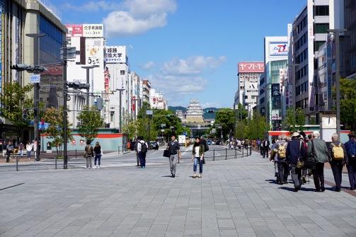 Arrival in Himeji