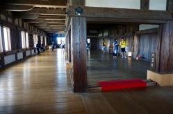 Inside the main keep