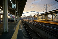 Waiting for the shinkansen