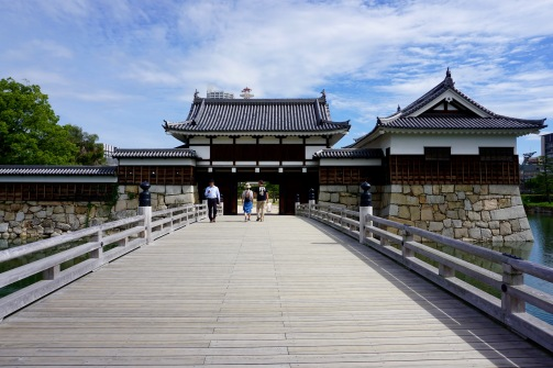 Entering Hiroshima Castle