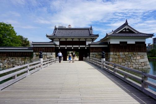 Entering Hiroshima Castle