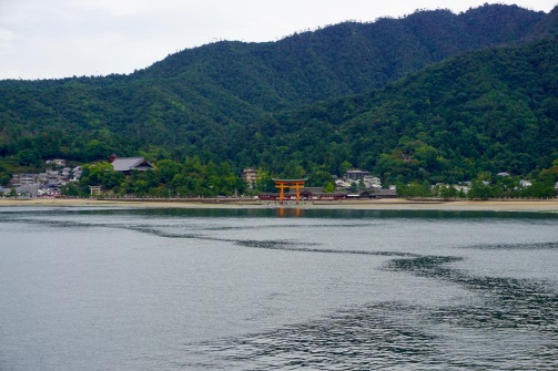 View of Miyajima from the ferry