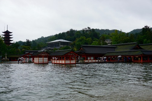 Itsukushima Shrine at high tide