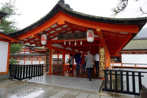 Entering Itsukushima Shrine