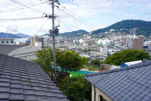The view of Nagasaki from my room