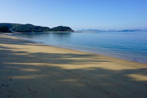 The hidden beach by Dainyu Station