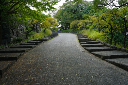The path up to Fukuoka Castle