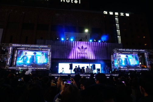 The stage with the DJ