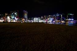 Gwangalli Beach at night