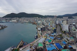 Looking out towards the west end of Busan