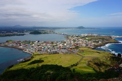 View of Jeju Island from the top
