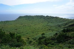 The crater on top of the mountain