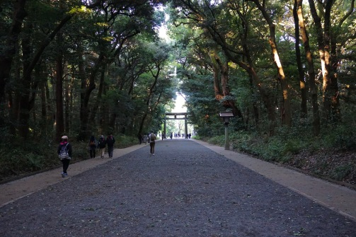 Exiting the shrine