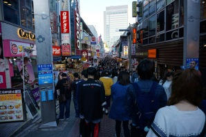 Descending into Takeshita Street