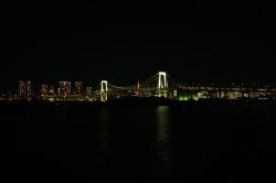 Rainbow Bridge with Tokyo Skyline