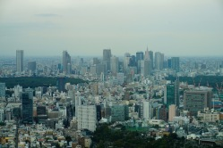 Shinjuku in the distance