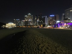 Haeundae Beach at night