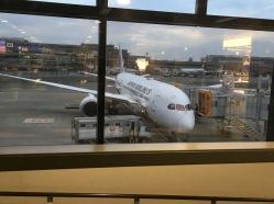 My flight back to America