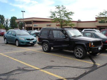My rental car (left) and Doug's jeep (right)
