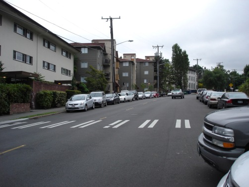 The street with Doug's apartment