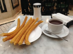 Churros con chocolate in Madrid