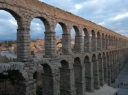 The old Roman aqueduct in Segovia