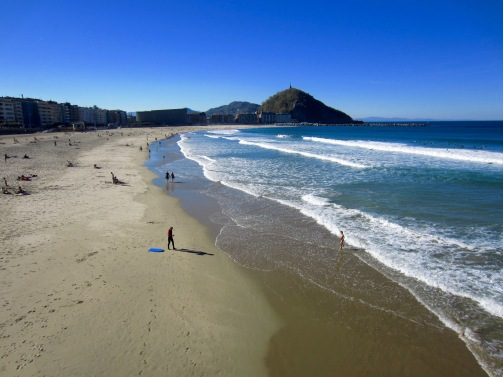 One of the beaches in San Sebastian