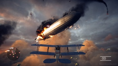 Fighting an airship over London