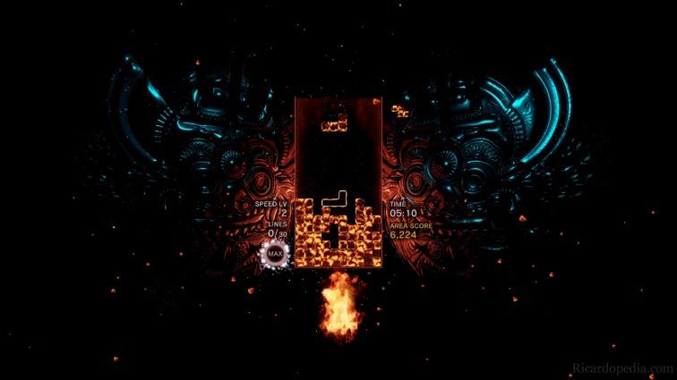 Tetris on fire.