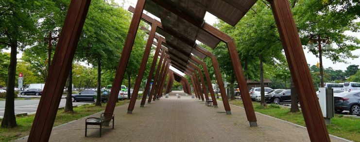 Seoul Korea Park Walk