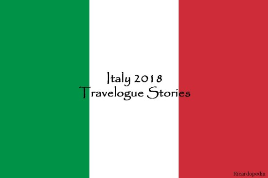 italy travelogue flag