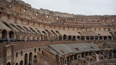 Much of the Colosseum is now gone