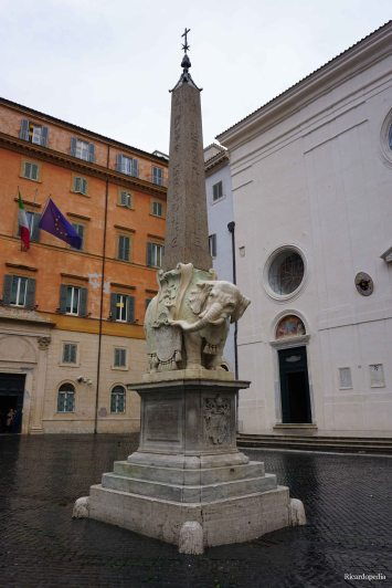 Rome Italy Elephant Obelisk